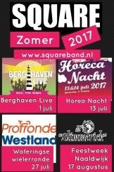 Square Optredens Zomer 2017
